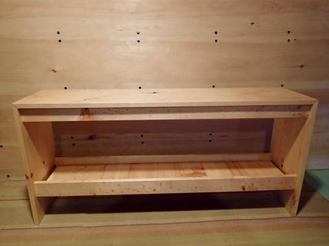 Modern Bench with Shelf