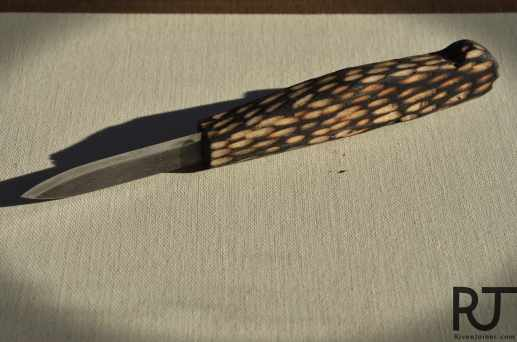 burnt paring knife